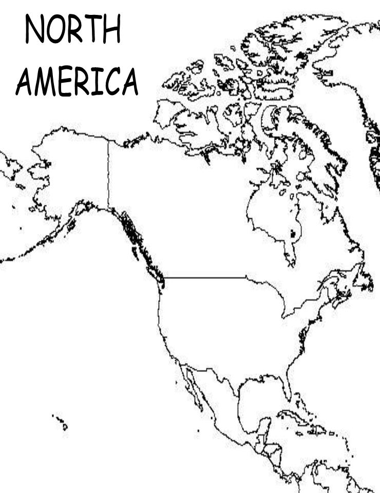 North America Map To Print