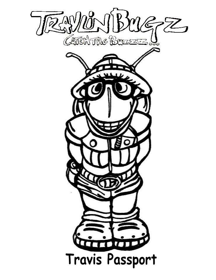 Free coloring pages of passport
